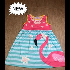 Other - Pink Flamingo & Turquoise and White Striped Dress!